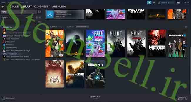 خرید اکانت Steam